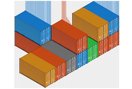 40 foot shipping container, 20 foot shipping container