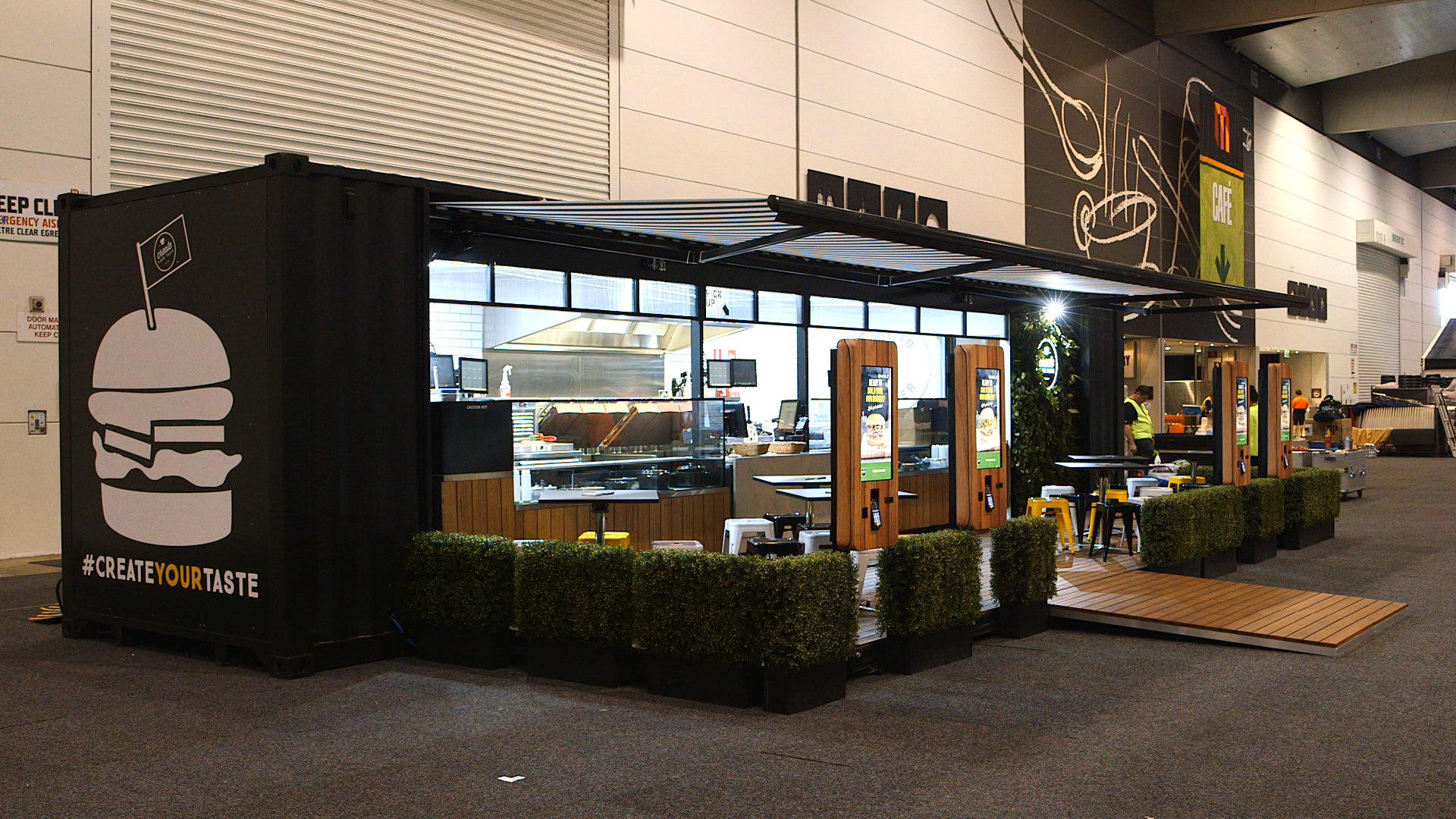 Standard Exhibition Stall : Top restaurants built inside a shipping container