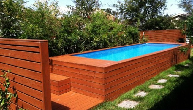 The Steps to Build a Modified Shipping Container Swimming Pool