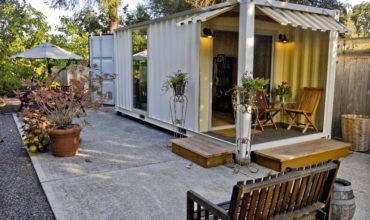 Backyard Patio Shipping Container