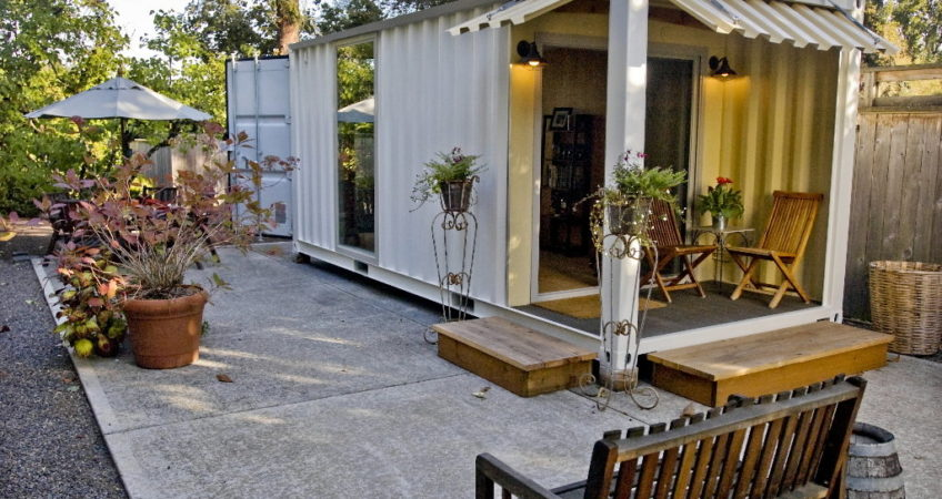 Backyard Patio Shipping Container