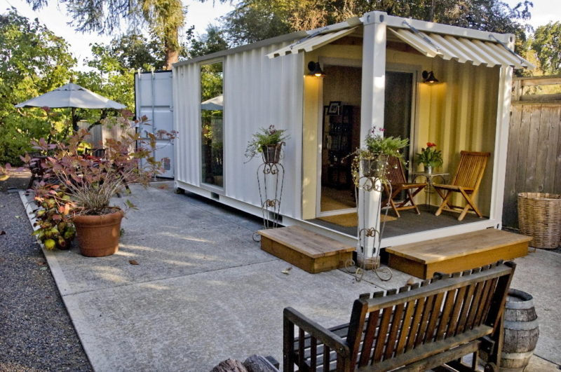 Backyard Patio Shipping Container Container