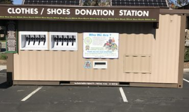 donation center shipping container